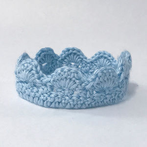 Blue Crocheted Crown for Photography Session